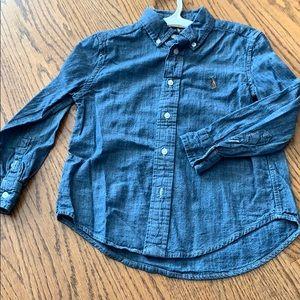 Boys Polo Chambray Button Down Shirt